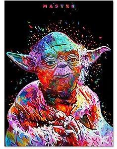 Painel Quadro 1 Tela Filme Star Wars Master Movie 60x40cm