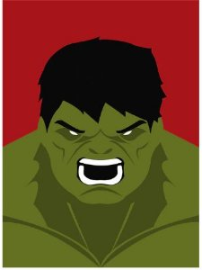 Painel Quadro 1 Tela Hulk Filme 60x40cm