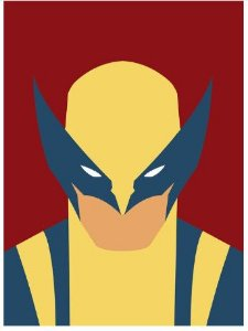 Painel Quadro 1 Tela Wolverine Logan Filme 60x40cm