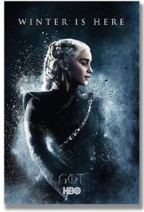Painel Quadro 1 Tela Série Got Game Of Thrones Winter Is Here 60x40cm