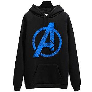 Blusa Moletom Canguru  Vingadores Avengers Logo