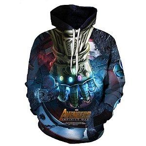 Blusa De Frio 3d Full Thanos Manopla Vingadores Avengers Filme