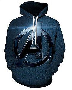 Blusa De Frio 3d Full Vingadores Avengers Filme Logo Cinema