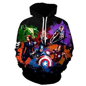 Blusa De Frio 3d Full Vingadores Avengers Filme Heróis