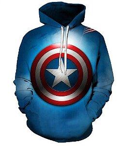 Blusa De Frio 3d Full Vingadores Avengers Filme Capitão América
