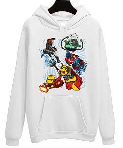 Blusa Moletom Canguru Vingadores Avengers Filme Pikachu Pokemon