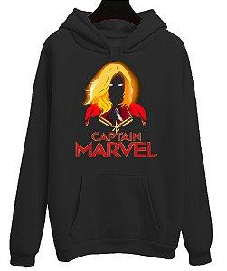Moletom Blusa Canguru Vingadores Capitã Marvel Avengers Filme Cinema