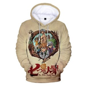 Blusa De Frio 3d Full Anime Nanatsu no Taizai Personagens