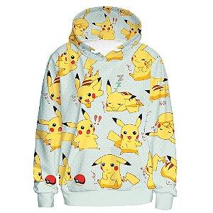 Blusa De Frio 3d Full Pokemon Pikachu Fofo Cute Jogo Desenho