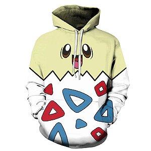 Blusa De Frio 3d Full Pokemon Togepi Fofo Cute Jogo Desenho