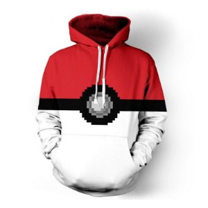 Blusa De Frio 3d Full Pokemon Pokebola Desenho Jogo