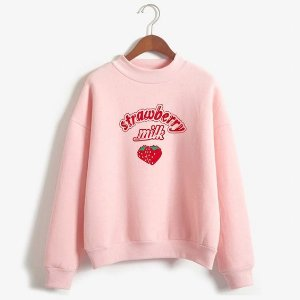 Moletom Blusa Careca Strawberry Milk