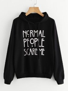 Moletom Blusa Canguru Normal People Scare Me AHS