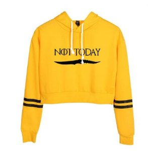 Moletom Cropped Feminino Not Today Got Game Of Thrones