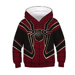 Blusa Moletom Infantil 3d Full Homem Aranha Avengers Vingadores