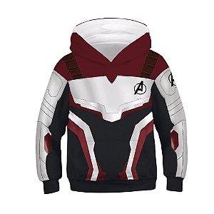 Blusa Moletom Infantil 3d Full Uniforme Vingadores Avengers