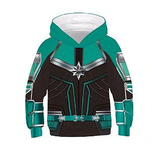 Blusa Moletom Infantil 3d Full Capitã Marvel Filme Vingadores Avengers