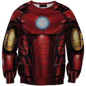 Blusa Moletom Careca 3d Full Homem De Ferro Vingadores Avengers Uniforme