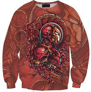 Blusa Moletom Careca 3d Full Vingadores Homem De Ferro