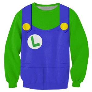 Blusa Moletom Careca Infantil 3d Full Luidi Jogo Uniforme