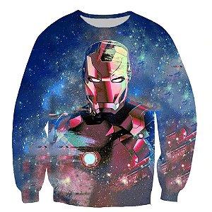 Blusa Moletom Careca 3d Full Iron Man Homem De Ferro Vingadores