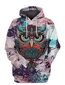 Blusa De Frio 3d Full Coruja Owl