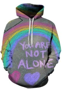 Blusa De Frio 3d Full LGBT You Are Not Alone Gay