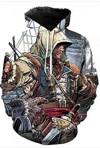 Blusa De Frio 3d Full Assassin's Creed Jogo Game