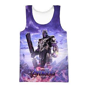 Camiseta Regata 3D Full Avengers Vingadores Thanos