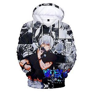 Blusa Moletom 3d Full Tokyo Ghoul Kaneki Anime Mangá