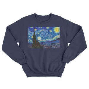 Moletom Gola Redonda Van Gogh Noite Estrelada Unnisex