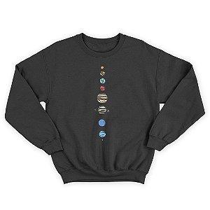 Moletom Gola Redonda Planetas Planets