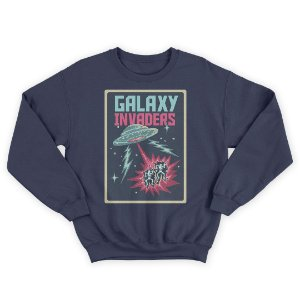 Moletom Gola Redonda Galaxy Invaders