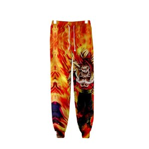 Calça 3d Full Anime Dragon Ball Z Goku Flames