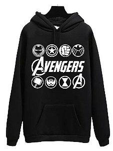Blusa Moletom Canguru Vingadores Avengers Filme Simbolos