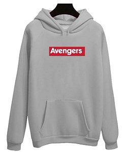 Blusa Moletom Canguru Avengers Vingadores Logo Filme