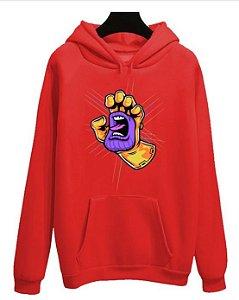 Blusa Moletom Canguru Avengers Vingadores Manopla Thanos