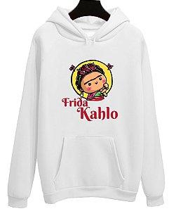 Blusa Moletom Canguru Frida Khalo Pintora
