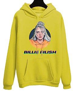 Blusa Moletom Canguru Billie Eilish Cantora Pop