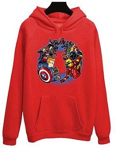 Blusa Moletom Canguru Vingadores Avengers Filme Futurama Desenho