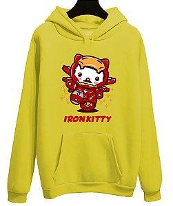 Blusa Moletom Canguru Vingadores Iron Kitty Homem De Ferro Filme