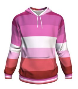 Blusa Moletom Canguru Full 3d LGBT Orgulho Bandeira Lesbica