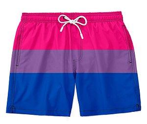 Bermuda Praia Unissex Orgulho Lgbtq Bandeira Bissexual