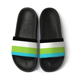 Chinelo Slide Lgbtq Orgulho Bandeira Quoissexual