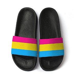 Chinelo Slide Lgbtq Orgulho Bandeira Pansexual