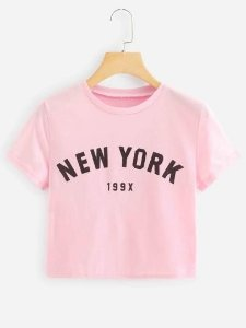 Camiseta Cropped New York