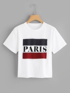 Camiseta Cropped Paris