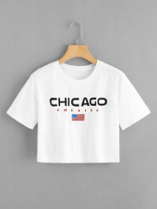 Camiseta Cropped Chicago America