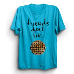 Camiseta Unissex Série Stranger Things Friends Don't Lie