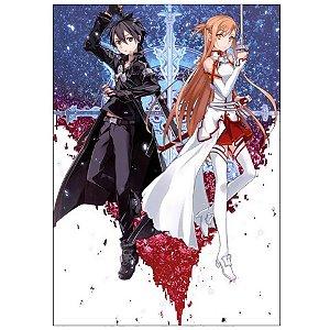 Painel Quadro 1 Tela Anime Sword Art Online 60x40cm